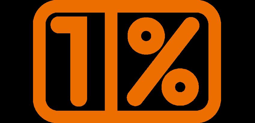 logo 1 procent opp