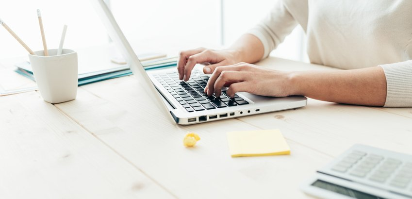 work at computer