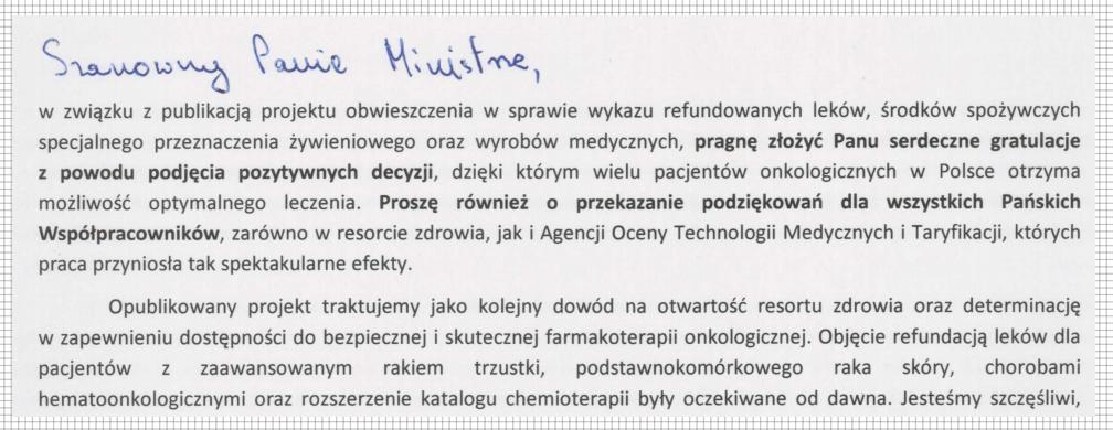 stanowisko fundacji alivia w sprawie listy refundacyjnej