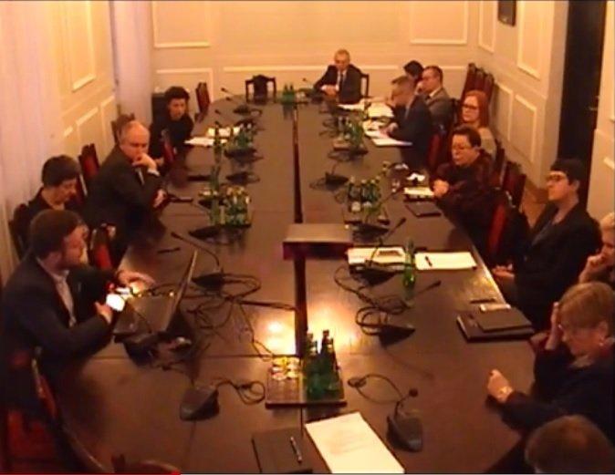 posiedzenie w parlamencie