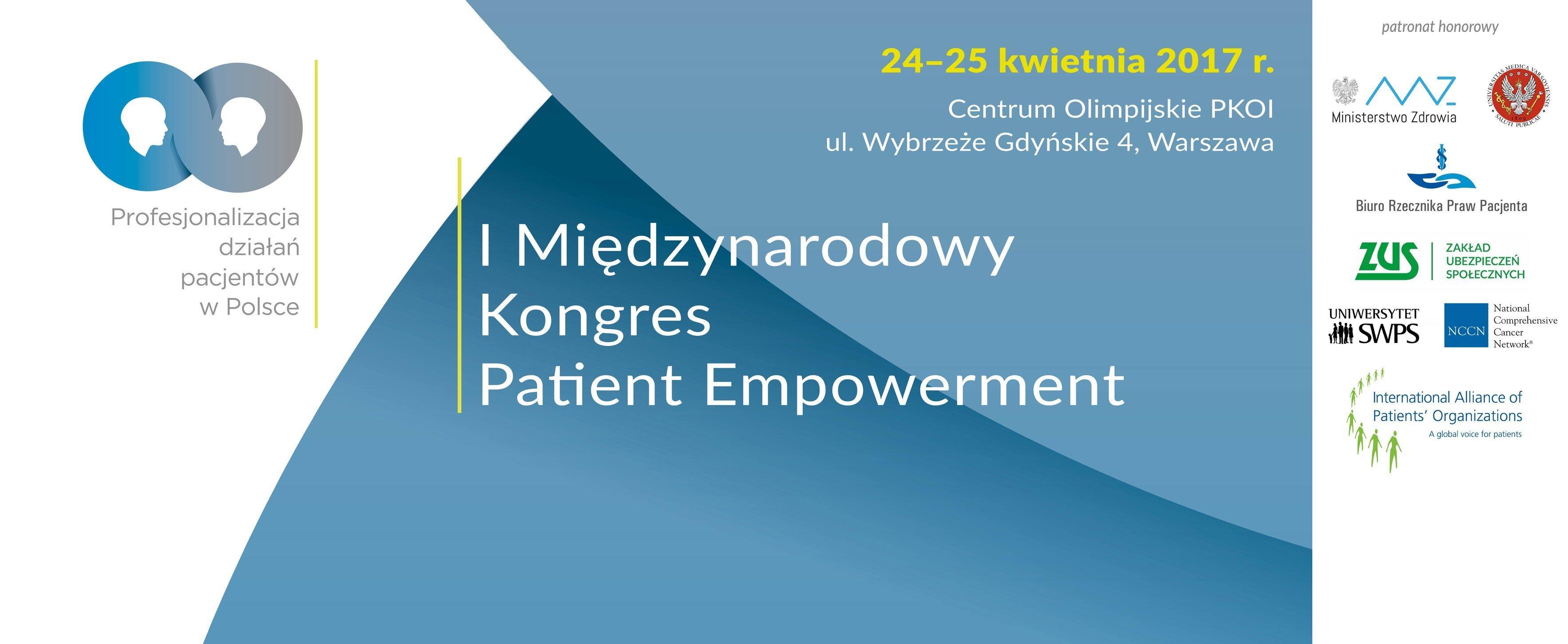 Pacjent, jako partner I Międzynarodowy Kongres Patient Empowerment
