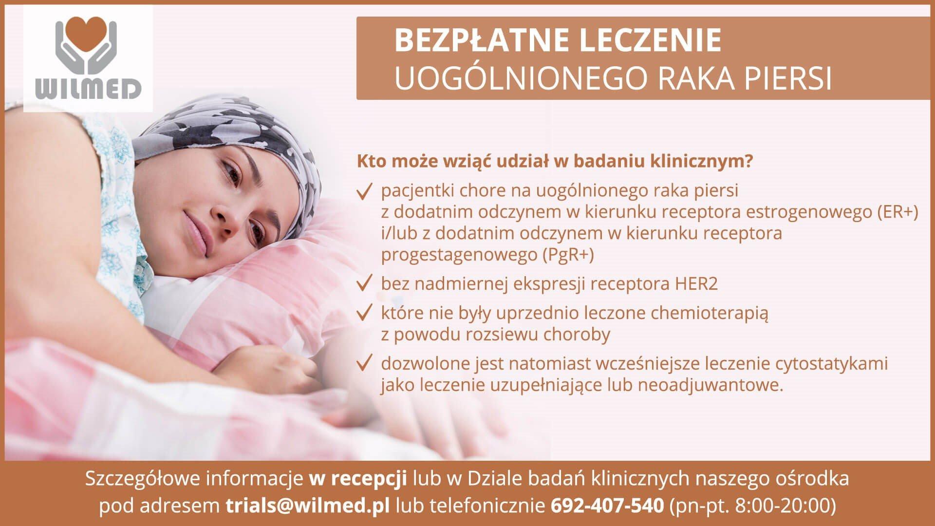badanie kliniczne rak piersi