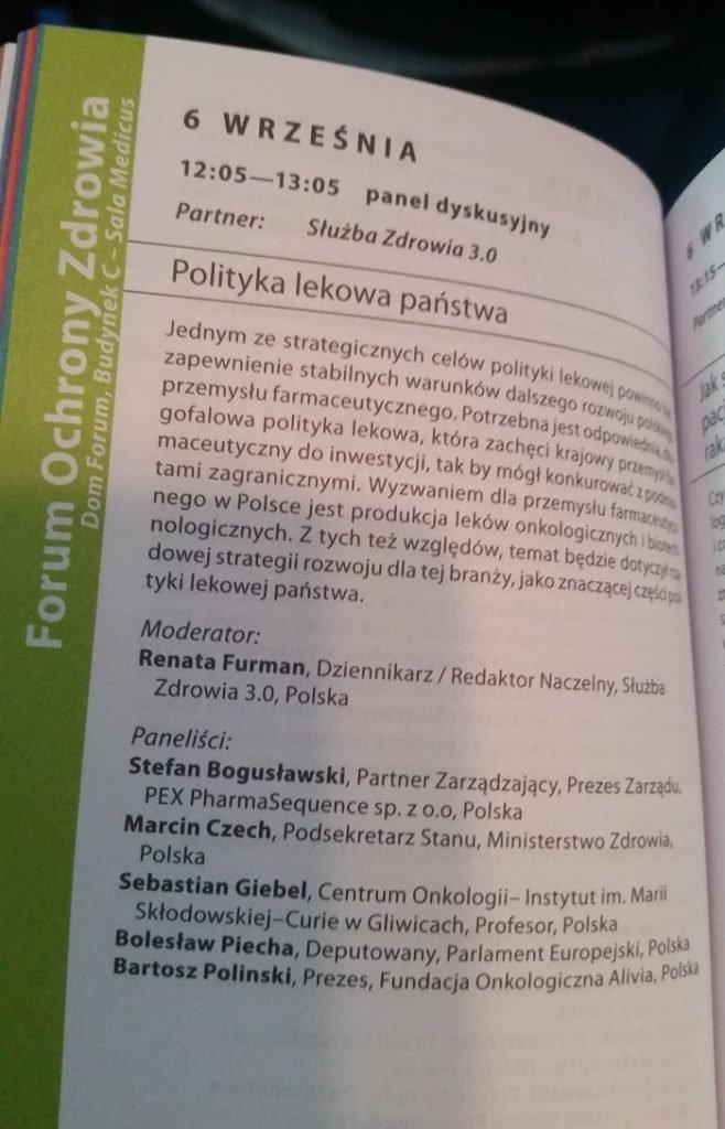 panel dyskusyjny polityka lekowa państwa