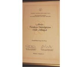 nagroda polskie grupy raka płuca dla fundacji alivia