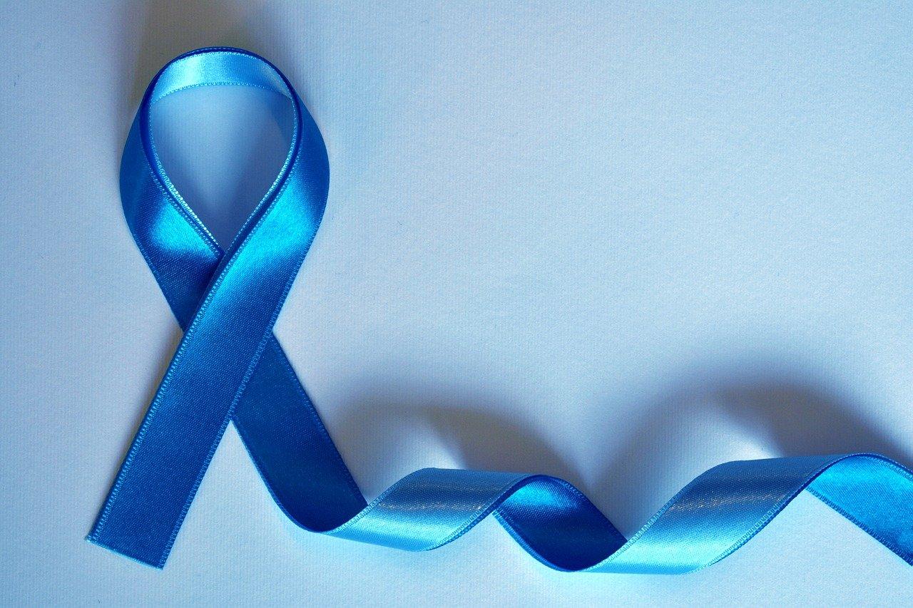 niebieska wstążka, symbol raka prostaty