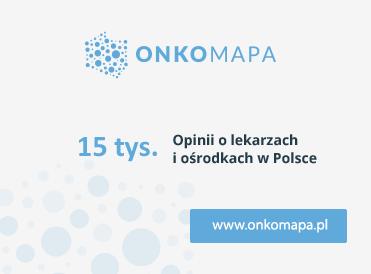 Onkomapa. 13 tysięcy opinii o lekarzach i ośrodkach w Polsce.