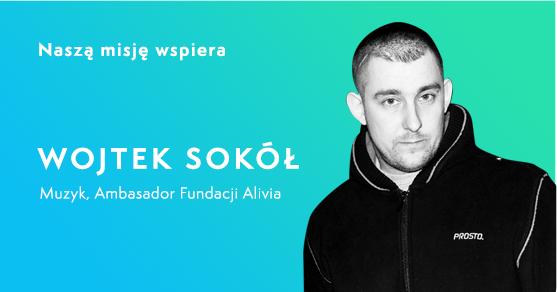 Wojtek Sokół, muzyk, ambasador Fundacji Alivia